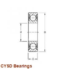 35 mm x 72 mm x 27 mm  CYSD W6207-2RSNR deep groove ball bearings