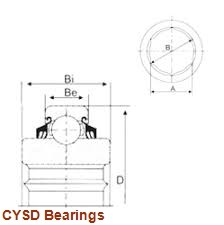 55 mm x 100 mm x 25 mm  CYSD NJ2211E cylindrical roller bearings