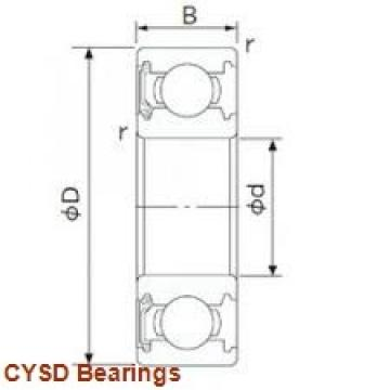 25 mm x 52 mm x 15,875 mm  CYSD 8505 deep groove ball bearings